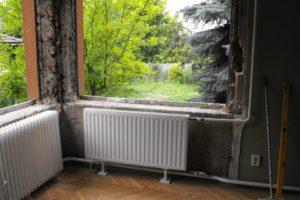 Gerébtokos ablak visszabontása javítással