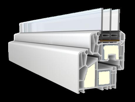 Veka alphaline 90 MD passzívház ablak profil