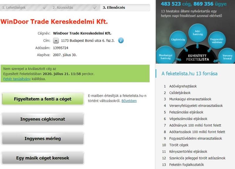 Cégünk - WinDoor Trade Kft - Veka ablak